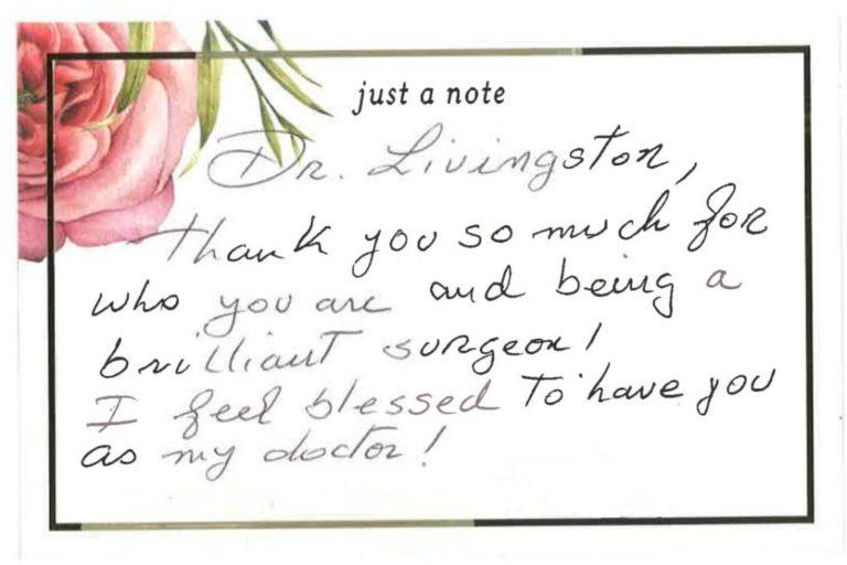 hand-written testimonial
