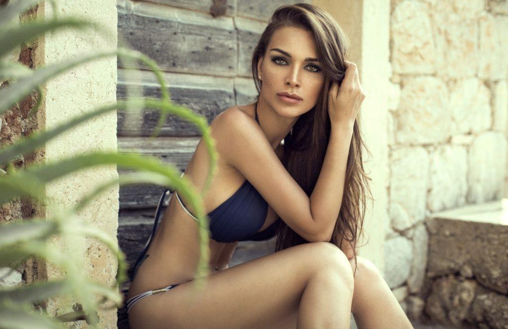 woman posing in swimsuit