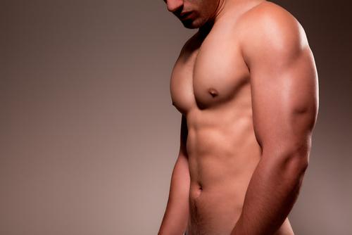 shirtless man posing