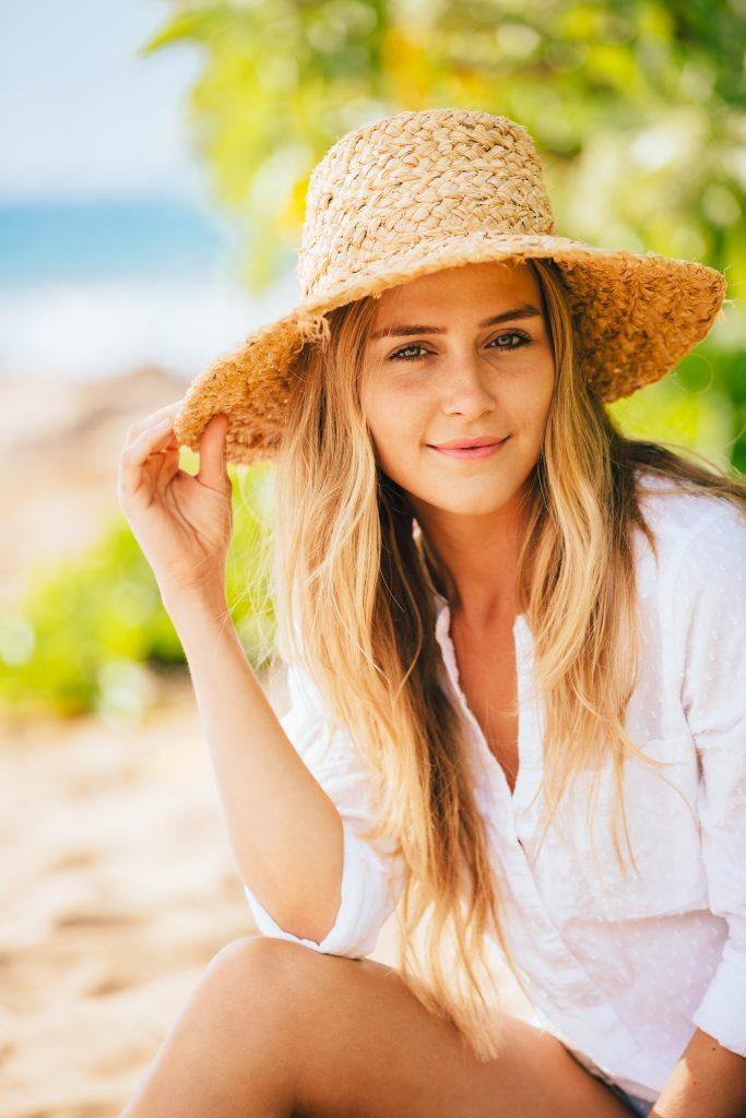 woman posing smiling