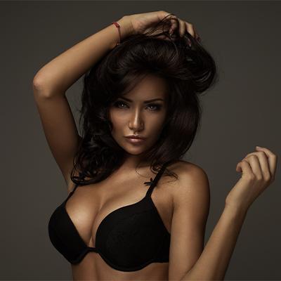 woman posing seductively